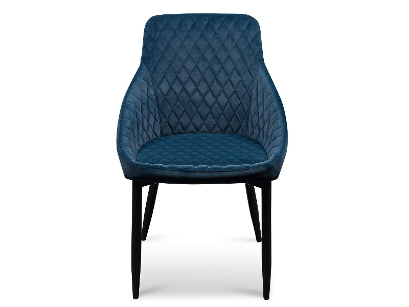 Wayerton Velvet Fabric Dining Chair, Navy