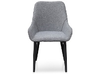 LivingStyles Caribou Fabric Dining Chair, Pebble Grey