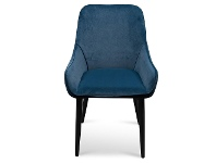 LivingStyles Caribou Velvet Fabric Dining Chair, Navy