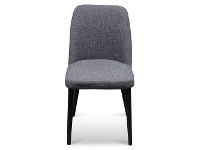 LivingStyles Degelis Fabric Dining Chair, Dark Grey