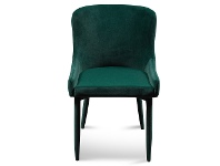 LivingStyles Ranlo Velvet Fabric Dining Chair, Emerald