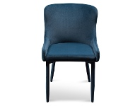 LivingStyles Ranlo Velvet Fabric Dining Chair, Navy