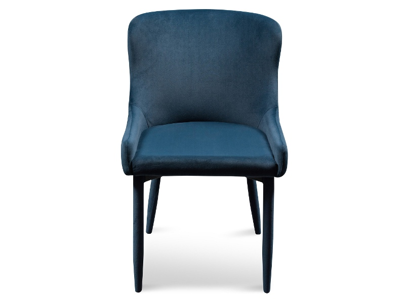 Ranlo Velvet Fabric Dining Chair, Navy