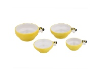 LivingStyles Davis & Waddell Beehive 4 Piece Dolomite Measuring Cup Set