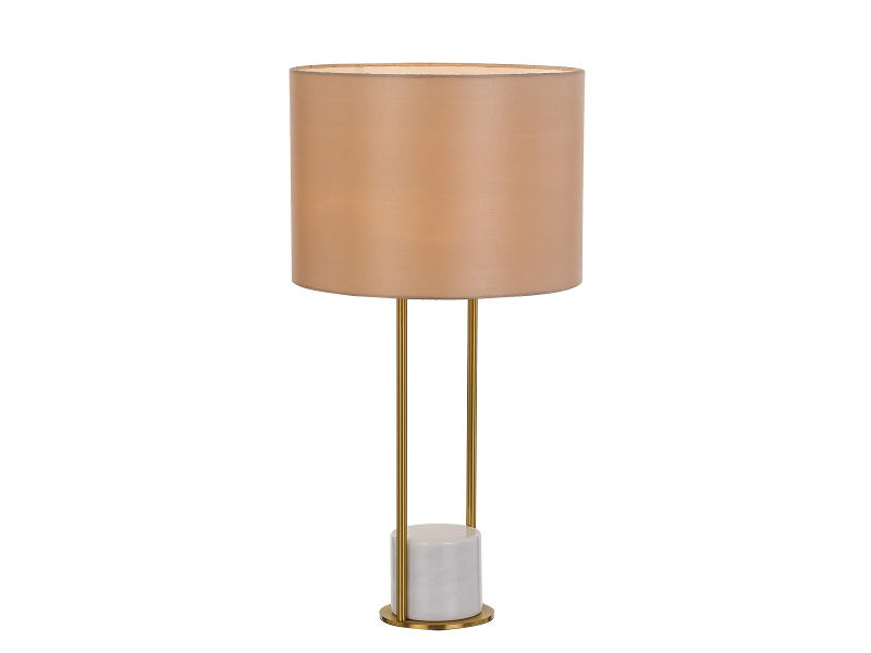 Desire Marble Base Table Lamp, White / Cream