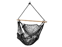 Harper Cotton Hammock Chair, Black