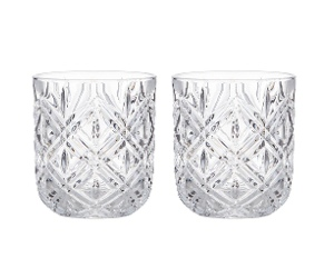 Fine Foods Deluxe 2 Piece Double Old Fashioned Glass Set