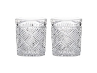 LivingStyles Fine Foods Grande 2 Piece Double Old Fashioned Glass Set