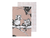 LivingStyles Ecology Blinky Bill Cotton Tea Towel, Set of 2, Coral