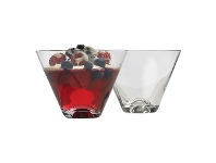 LivingStyles Ecology Classic V-shape Dessert Glass, Set of 4