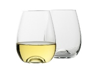LivingStyles Ecology Classic Stemless White Wine Glass, Set of 4