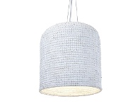 LivingStyles Lombok Rattan Pendant Light, Cream