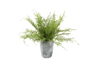 LivingStyles Potted Artificial Fern Plant, 50cm