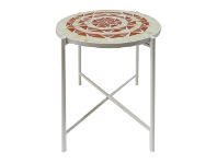 LivingStyles Summer Dayze Glass Mosaic Top Round Side Table