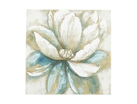 LivingStyles Magnolia Oil Painting Canvas Wall Art, 80cm