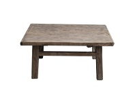 LivingStyles Caotang Reclaimed Elm Timber Antique Oriental Coffee Table, 99cm