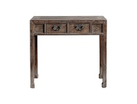LivingStyles Fulin Reclaimed Elm Timber Antique Oriental Console Table, 95cm