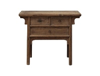 LivingStyles Wenxuan Reclaimed Elm Timber Antique Oriental Hall Table, 99cm
