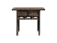 LivingStyles Dayi 130 Year Antique Elm Timber Oriental Console Table, No.1419, 101cm