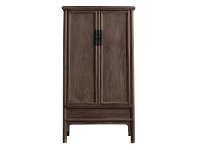 LivingStyles Dongting 130 Year Antique Elm Timber Oriental Wardrobe, No.1439