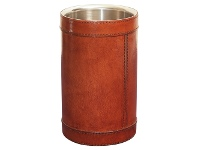 LivingStyles Winston Leather & Stainless Wine Chiller