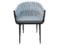 Shelton Fabric Dining Chair with PU Seat