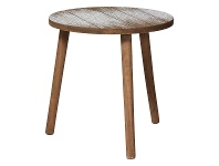LivingStyles Phoenix Wooden Round Side Table, Large
