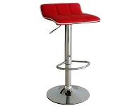 LivingStyles Kobe PU Leather Gas Lift Bar Stool