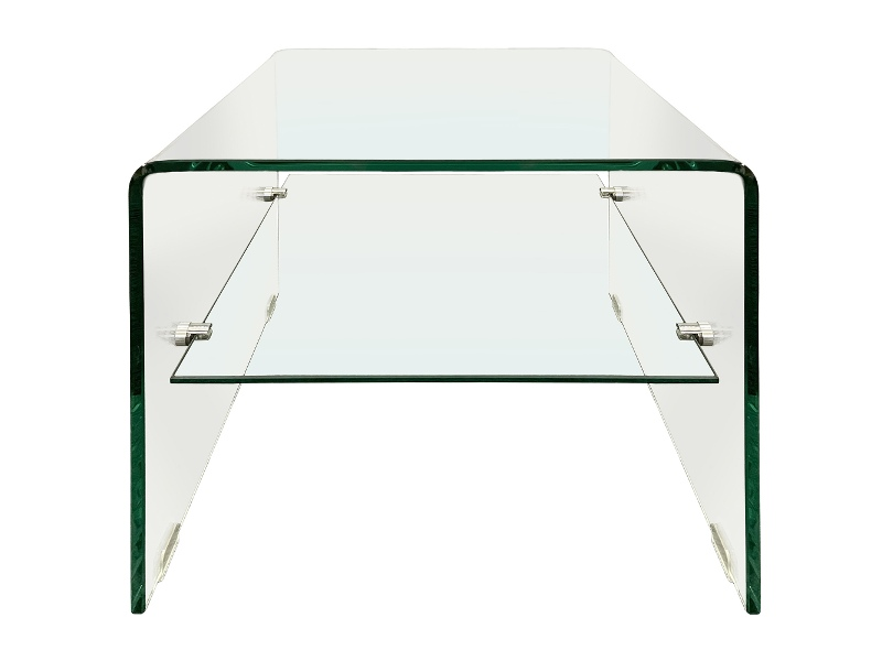 Glacier Glass Lamp Table, Clear