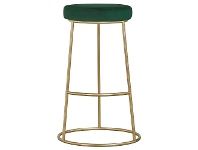 LivingStyles Xyla Metal Counter Stool, Green Velvet Seat