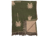 LivingStyles Palm Cotton Throw, 150x125cm, Green