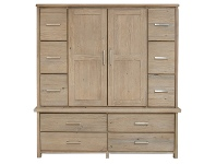 LivingStyles Maxton Mountain Ash Timber Wardrobe