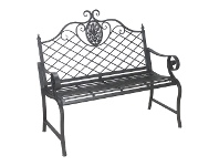 Varroville Wrought Iron Garden Bench