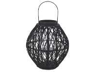 LivingStyles Starling Bamboo Rattan Lantern, Large
