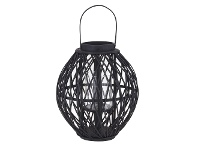 LivingStyles Starling Bamboo Rattan Lantern, Small
