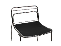 LivingStyles Vinyl Seat Pad for Excel Cage Stool, Black