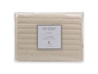 LivingStyles Ardor Boudoir Quilted Valance, King, Cream