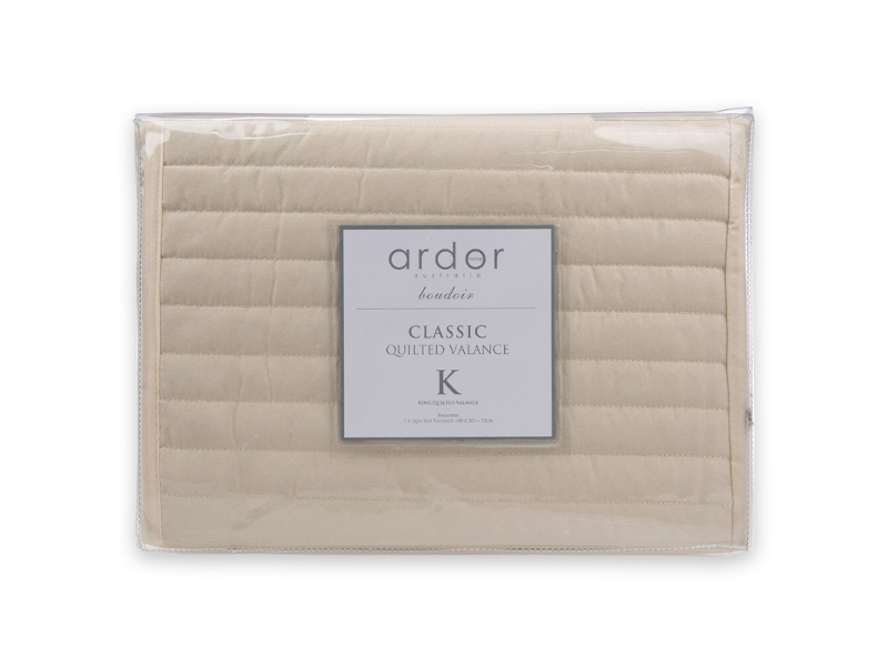Ardor Boudoir Quilted Valance, King Single, Cream
