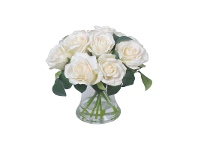 Sofia Artificial Rose in Glass Vase