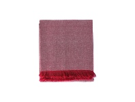 LivingStyles Chambray Cotton Christmas Tablecloth, 240x140cm, Red