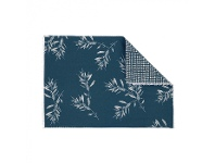LivingStyles Olive Grove & Cotswold 4 Piece Fabric Placemat Set, Blue