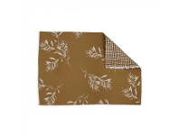 LivingStyles Olive Grove & Cotswold 4 Piece Fabric Placemat Set, Mustard