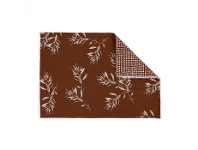 LivingStyles Olive Grove & Cotswold 4 Piece Fabric Placemat Set, Terracotta