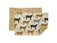 LivingStyles Cheetahs Gone Wild Cotton Table Placemat, Set of 4