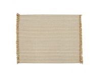 LivingStyles Abby 4 Piece Stripe Fabric Placemat Set, Mustard