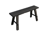 LivingStyles Bella Recycled Timber Oriental Bench, 80cm, Black