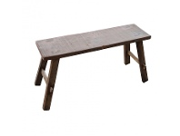 LivingStyles Bella Recycled Timber Oriental Bench, 80cm, Natural
