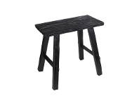 LivingStyles Bella Recycled Timber Oriental Bench, 40cm, Black