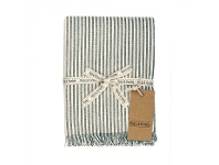 LivingStyles Abby Stripe Fabric Tablecloth, 170cm, Olive