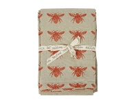 LivingStyles Abby Bee Cotton Tablecloth, 250x140cm, Terracotta